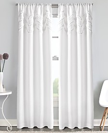Curtainworks Chevron Ruffle Rod Pocket Window Panel Collection