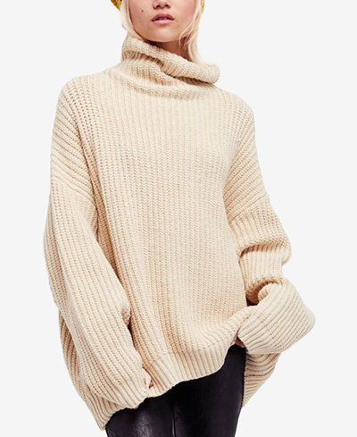 free people swim too deep oversized sweater sweaters women macy 39 s. Black Bedroom Furniture Sets. Home Design Ideas