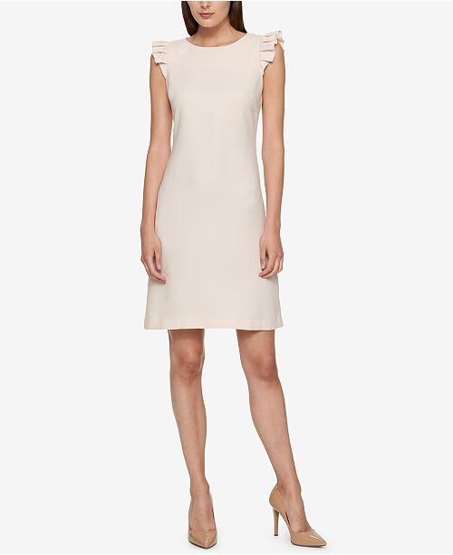 2a2309b8ff8 Tommy Hilfiger Ruffle-Sleeve A-Line Dress & Reviews - Dresses ...