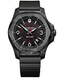 Victorinox Swiss Army Men's INOX Carbon Black Rubber Strap Watch 43mm