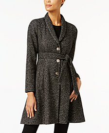 Ivanka Trump Shawl-Collar Skirted Walker Coat