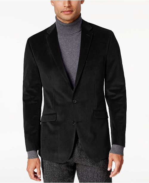 91e4cf61c6 Kenneth Cole Reaction Men s Slim-Fit Micro-Grid Velvet Dinner Jacket ...