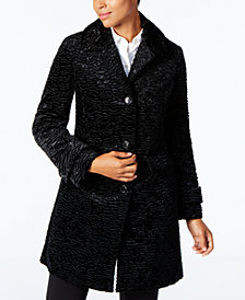 Jones New York Faux-Fur Walker Coat