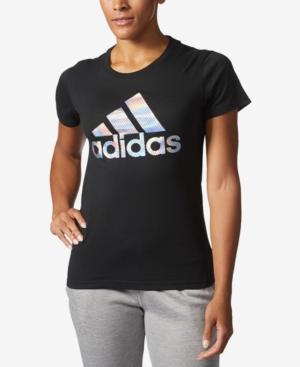 Shirt Black Holographic T Logo Printed In Adidas qzVSUpGLM