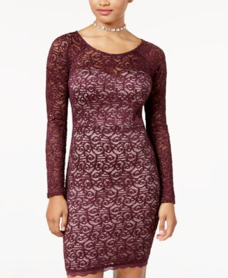 Sequin Hearts Lace Dress