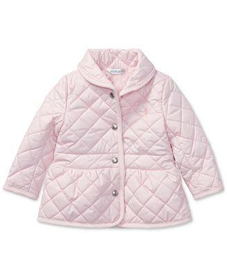 Ralph Lauren Quilted Jacket, Baby Girls - Coats & Jackets - Kids ... : quilted baby coat - Adamdwight.com