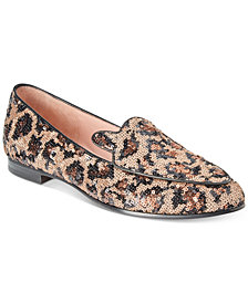 kate spade new york Caty Sequined Leopard Flats