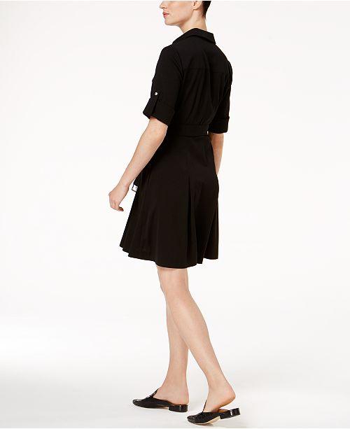 Michael Kors Belted Shirtdress In Regular Pee Sizes Dresses Women Macy S