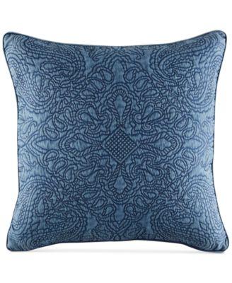 "Vintage Bandana 18"" x 18"" Decorative Pillow"