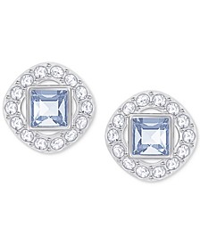 Square Crystal Halo Stud Earrings
