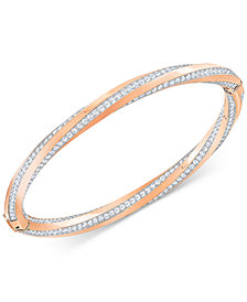 Swarovski Twisted Pavé Bangle Bracelet