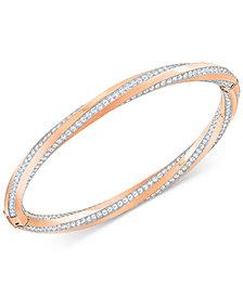 Swarovski Twisted Pavé Bangle Bracelet