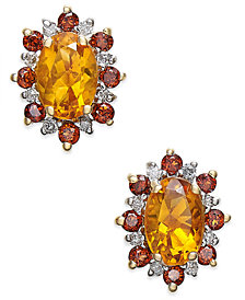 Multi-Gemstone (1-3/8 ct. t.w.) & Diamond Accents Stud Earrings in 14k Gold