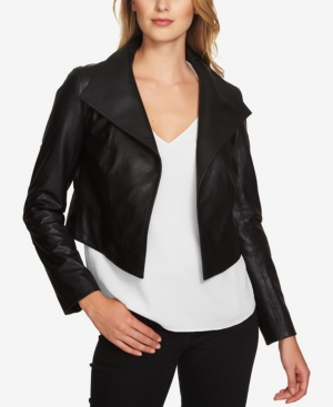 1.state  CROPPED FAUX-LEATHER JACKET