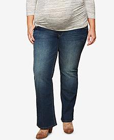 Motherhood Maternity Plus Size Dark Wash Boot-Cut Jeans