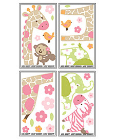 Carter's Jungle 4-Pc. Wall Decal Set