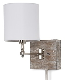 Regina Andrew Reclaimed Wood Swing Arm Pinup Sconce