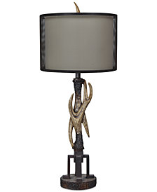 Crestview Industrial Antler Table Lamp