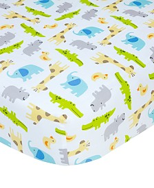 Carter's  100% Cotton Sateen Fitted Crib Sheet