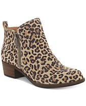 Lucky Brand Women's Basel Leopard Print Booties, Created For Macy's