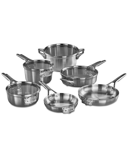 Calphalon Premier 10 Pc E Saving Stainless Steel Cookware Set Sets Macy S