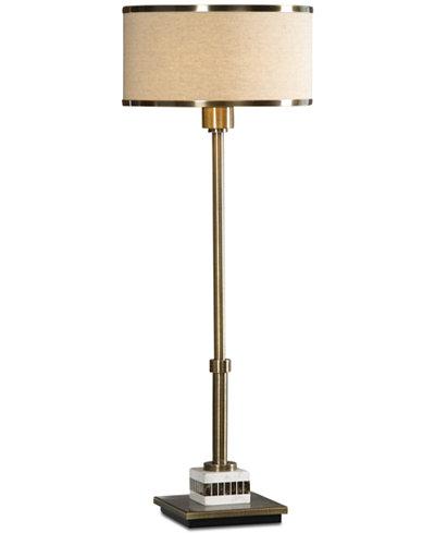 Uttermost Koronia Antiqued Brass Table Lamp