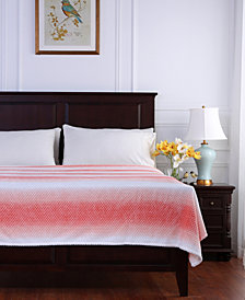 Berkshire Ombré Stripe Textured Honeycomb Blanket