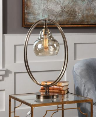 Superbe ... Uttermost Elliptical Edison Bulb Table Lamp ...