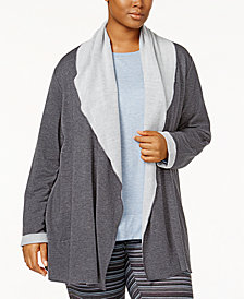 Alfani Plus Size Luxe Cozy Wrap, Created for Macy's