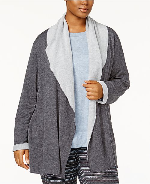 Alfani Plus Size Luxe Cozy Wrap, Created for Macy's