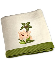 Jungle Babies Embroidered Appliqué Fleece Blanket