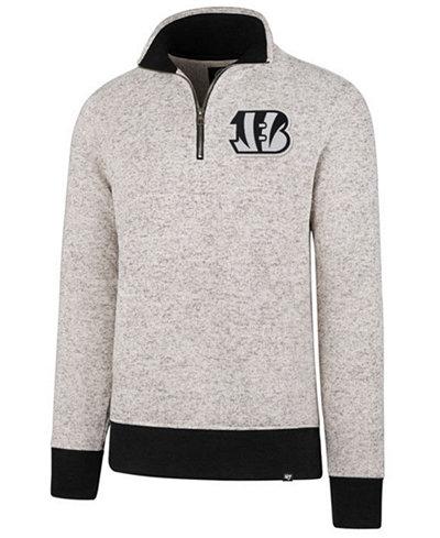 '47 Brand Men's Cincinnati Bengals Kodiak Quarter-Zip Pullover