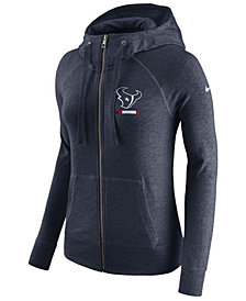 Nike Women's Houston Texans Gym Vintage Full-Zip Hoodie