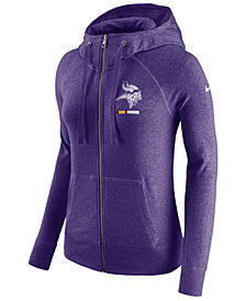 Nike Women's Minnesota Vikings Gym Vintage Full-Zip Hoodie
