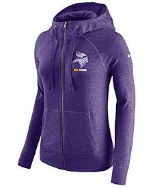 Nike Women's Minnesota Vikings Gym Vintage Full-Zip Hoodie