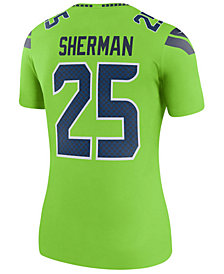 Nike Women's Richard Sherman Seattle Seahawks Color Rush Legend Jersey