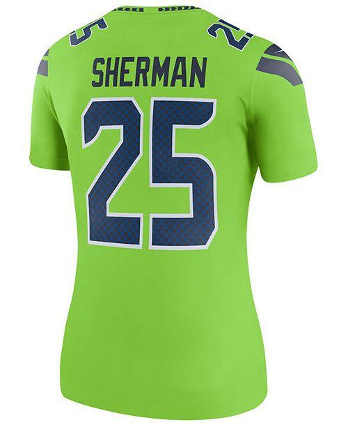 sale retailer 38484 8c9af Nike Women's Richard Sherman Seattle Seahawks Color Rush ...