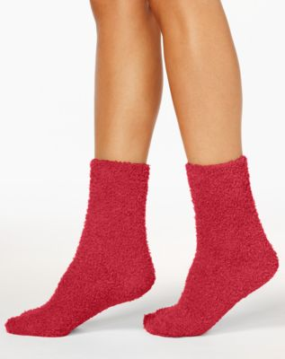 Women's Supersoft Fuzzy Cozy Socks, Created for Macy's
