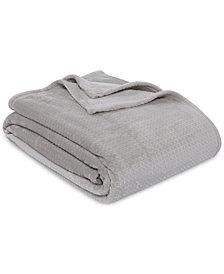 Berkshire VelvetLoft Textured Grid Plush Full/Queen Blanket