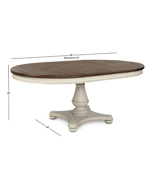 Furniture Barclay Expandable Round Dining Pedestal Table
