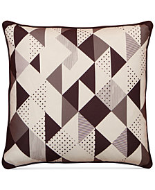 "LAST ACT! Hallmart Collectibles Purple Modern Geo-Print 20"" Square Decorative Pillow"