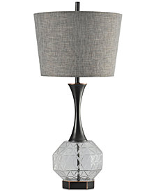 Harp & Finial Draper Table Lamp