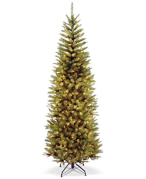 National Tree Company 7' Kingswood Fir Pencil Hinged Tree With 300 Clear Lights