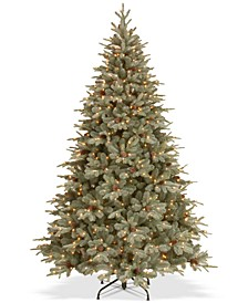 7.5' Feel Real® Frosted Artic Spruce Hinged Tree With Cones & 750 Clear Lights