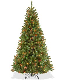 7.5' North Valley Spruce Hinged Tree With 550 Multicolor Lights