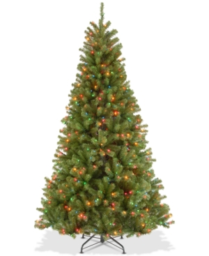 National Tree Company 75 North Valley Spruce Hinged Tree With 550 Multicolor Lights
