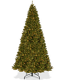 National Tree Company 12' North Valley Spruce Hinged Tree With 1200 Clear Lights
