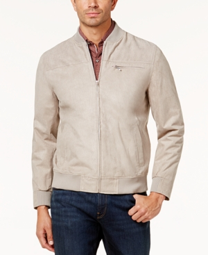 1960s Inspired Fashion: Recreate the Look Tasso Elba Mens Suede Bomber Jacket Created for Macys $44.93 AT vintagedancer.com