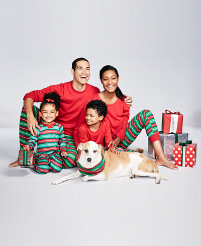 Family Pajamas Holiday Stripe Pajama Sets, Created for Macy's