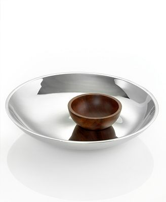 Hotel Collection Serveware, Stainless Chip and Dip